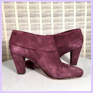 Kate Spade Purple Suede Booties